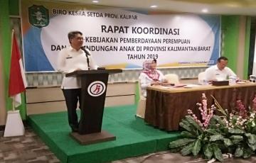 Rakor Kebijakan Pemberdayaan Perempuan dan Perlindungan Anak di Provinsi Kalbar Tahun 2019.