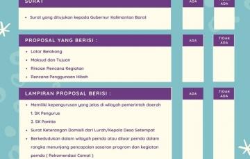 Persyaratan Proposal Hibah dan Bansos