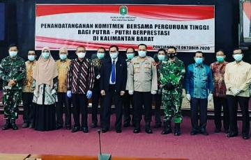 Penandatanganan Komitmen Bersama Perguruan Tinggi Bagi Putra - Putri Berprestasi Provinsi Kalimantan Barat