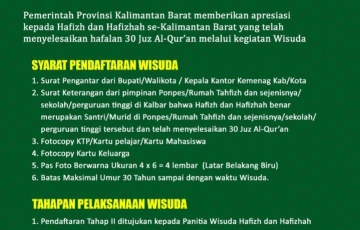 Wisuda Hafizh dan Hafizhah Provinsi Kalimantan Barat Tahap II Tahun 2021