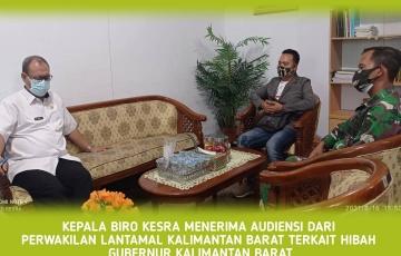 Audiensi perwakilan dari LANTAMAL (TNI AL)